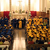Graduates recieve tehri diplomas during St Mary's 128th commencement at St Mary's church Thursday May 27, 2010. Item Photo/ Reba M. Saldanha