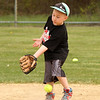 Logan Rose catches one on the leg at the home run derby at parcher Field in Saugus on Saturday.