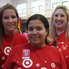 Cinco de Mayo festivities at the Boy's and Girl's Club in Lynn sponsored by Target Stores. These three women fro Target Stores coordinated this event. From left to right are: Dena Zide, Saugus store, Charlleny Furrier, Revere Store, and Jennifer Miraglia, Salem Store.
