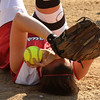 Alyssa Furtado is down at third base after a tagging a Classical player out.