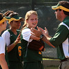 Jenny Garrity after catching a line drive.