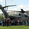 A CH-53E Marine helicopter paid a visit to Lynn English High School today.