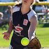 Julia Potter, the pitcher for Swampscott.