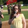 Amanda Rosa sung the Star Spangle Banner.