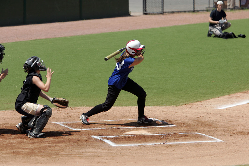 Catcher Abby Blecher and Emily Smith  at the Agganis softball classic Sunday July 11, 2010. Item Photo/ Reba M. Saldanha