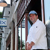 the Blue Ox Executive chef Matt O'Neil outside his Oxford St restaurant Sunday July 11, 2010. Item Photo/ Reba M. Saldanha