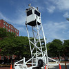 Transit Police tower in front of the Central Square MBTA station Monday July 12, 2010. Item Photo/ Reba M. Saldanha