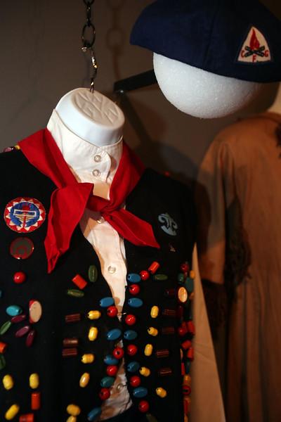 A uniform on display at Lynn museum's Camp Fire Girl exhibit Wednesday July 14, 2010. Item Photo/ Reba M. Saldanha