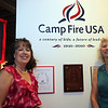 Former Camp Fire girls Mary Clutchey, left, and Kathy Wrynn at Lynn museum's Camp Fire Girl exhibit Wednesday July 14, 2010. Item Photo/ Reba M. Saldanha