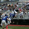 (from left) George Hennessey of Lynnfield, Michael Uva of St John's, and Marcell Hardmon of Marblehead the Agganis All Star football classic at Manning Field Thursday July 15, 2010. Item Photo/ Reba M. Saldanha