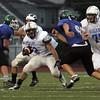 Mark D'Addario runs the ball during the Agganis All Star football classic at Manning Field Thursday July 15, 2010. Item Photo/ Reba M. Saldanha