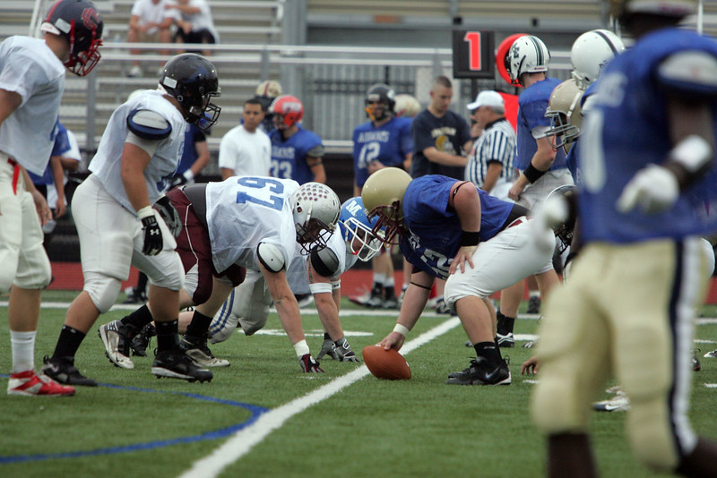Teh North and South sides face off during the Agganis All Star football classic at Manning Field Thursday July 15, 2010. Item Photo/ Reba M. Saldanha