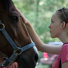 Heather Yearwood, 15, greets a horse during the Friends of Lynn Woods family fun day  Saturday July 17, 2010. Item Photo/ reba M. Saldanha