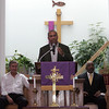 (from left) William Jones, Congressman John Tierney, Gov Deval Patrick, Pastor Dr William C Hill, and Rev Anita Farber Robinson at Zion Baptist Church Sunday July 18, 2010. Item Photo/ Reba M. Saldanha