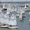 Boats take off on the starting day of junior race week at Pleon Yatch CLub in Marblehead Monday July 19, 2010. Item Photo/ Reba M. Saldanha