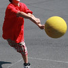 Chris Vecchio playing four square at the Saugus Youth and Recreation Summer Program at the Belmonte School.