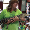 Holly Gosselin, of Curious Creatures, and an American Alligator called Chomper, visited the Lynn Library today.