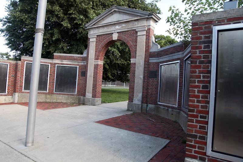 Teh war memorial at Saugus Center. Item Photo/ Reba M. Saldanha