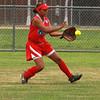 Jerrica Santos fielding.