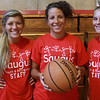 Camp Counselors, from left to right: Lauren Sanford, Lauren Atkins, full-time at Saugus High gym program, and Emily McBride.