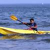 Matthew Wetherald kayaks in the waters off Lynn Beach Tuesday July 27, 2010. Item Photo/ Reba M. Saldanha