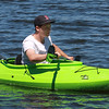 Patrick Coppola takes his kayak out on Floating Bridge Pond for at least one hour a day in search of junk.