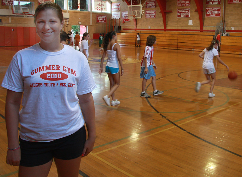 Diana Davis is one of the full-time instructors at the summer Gym program at Saugus High.