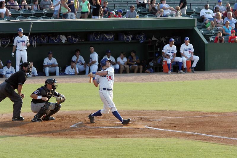 Braxton Fraven at bat at the North Shore Navigators game Wednesday July 28, 2010. Item Photo/ Reba M. Saldanha