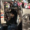 The cab of the truck that hit the car.