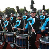 Drum and Bugle Competition at Manning Field on Saturday. Jersey Surf of Camden County NJ leaving the field after competing.