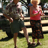 Estelle Revelotis and David Gass dancing to the music of Teri Lemanis and his band at the World Folk Festival at the Lynn Heritage State Park on Saturday.