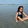 Elizabeth Buitrago cools off on Lynn Beach Tuesday July 6, 2010. Item Photo/ Reba M. Saldanha