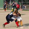 Swampscott's Hannah Leighy and WLA's Angela Waban in the Dist. 16 championship game at Lynn Woods field Wednesday July 7, 2010. Item Photo/ Reba M. Saldanha