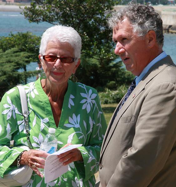 Christine Boverini and State Senator Thomas McGee.