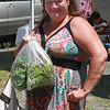 Cathie Harris, a satisfied customer at the Farmer's Market in Lynn.