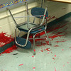 A portion of the vandalism in the art room at the Ingalls School in Lynn.