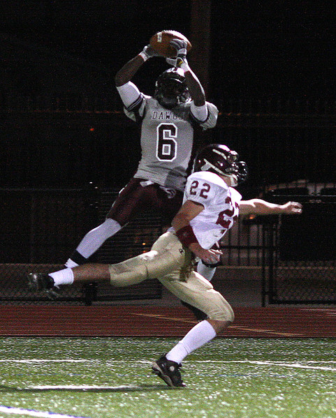 travonne Berry-Rogers catches a pass and goes in for a TD. Adam Philpott, 22.
