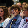 (from left) Caroline Munnelly, David Peterson, and Nicholas Kersten at the Johnson School moving on ceremony in Nahant Thursday June 16, 2011. Item Photo/ Reba M. Saldanha