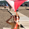 Colin Berg tires out his new Eddy kite at the kited Festival on Saturday on Devereux Beach