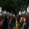 Members of the Spirit of Atlanta Drum and Bugle Corps practice at Hood Park in Lynn before continuing their summer series of competative concerts across the eastern United States Tuesday July 5, 2011. Item Photo/ Reba M. Saldanha