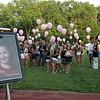 Mourners held balloons a vigil for drowning victim Sydney Vinci at Lynnfield Middle school Thursday July 7, 2011. Item Photo/ Reba M. Saldanha