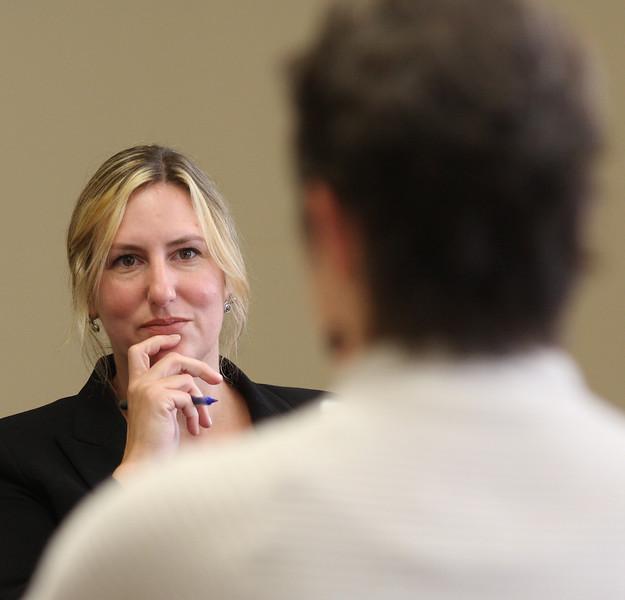 Christine Proffitt, Cultural site advisor, talking to Kit Jenkins for RAW Arts.
