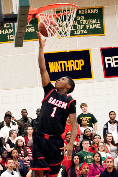 Salem's Christian Dunston (1) goes in for a layup during their game against Classical on Thursday, December 22. Item Photo / Angela Owens.