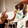 Salem's Davonte Holloway (23) guards Classical's Moise Builou (11) during their game on Thursday, December 22. Item Photo / Angela Owens.