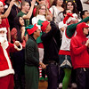 Fans in holiday gear cheer for Classical during their game against Salem on Thursday, December 22. Item Photo / Angela Owens.