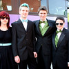 (from left) Amber Santman, Sean Haggett, Pat Daly, and Caroline Parent pose for a picture before loading buses to the prom Friday My 27, 2011. Item Photo/ Reba M. Saldanha