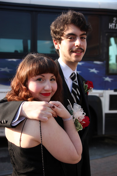 Ari Ratner and David Cohen  pose for a picture before loading buses to the prom Friday My 27, 2011. Item Photo/ Reba M. Saldanha