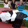 (from left) Marina Roberts, Alyse LaVoie, and Alexa Steriti, all of Swampscott, pose with prom dresses May 26, 2011. Item Photo/ Reba M. Saldanha