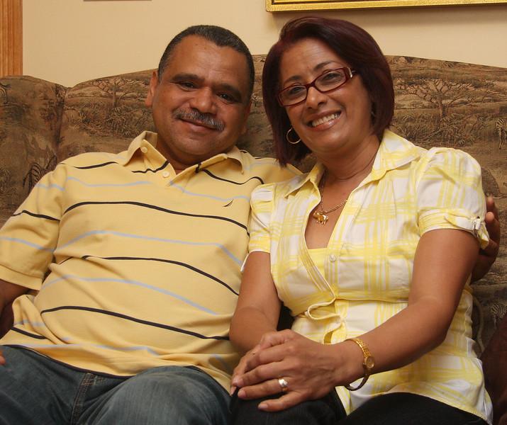 Foster parents Franscisco Brea and his wife Michy Sanchez.