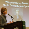 Attorney General Martha Coakley was the keynote speaker at the North Shore Chamber of Commerce breakfast this morning held at the Crowne Plaza in Danvers.